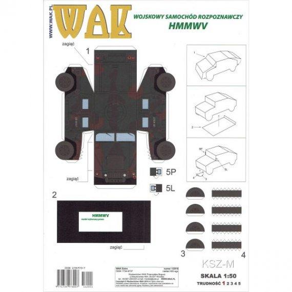 WAK 1/16 - Samochód Hummer HMMWV