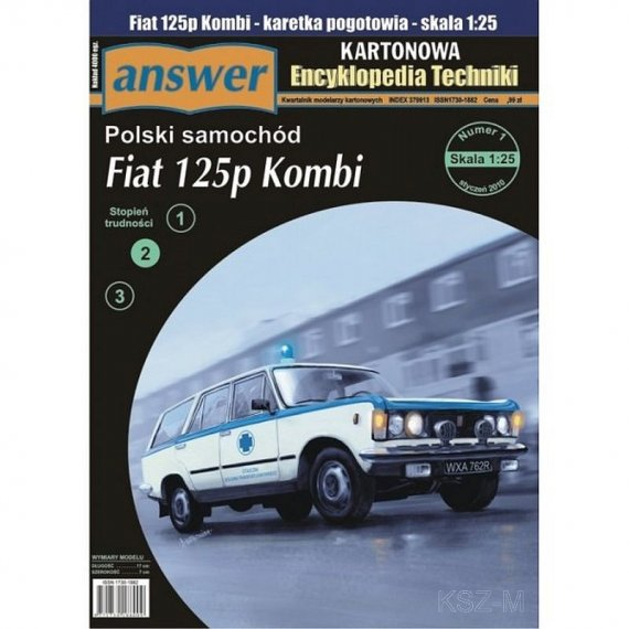Answer 1/10 Fiat 125p Kombi Karetka