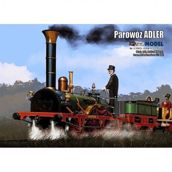 Angraf 7/15 - Parowóz Adler + 2 wagony