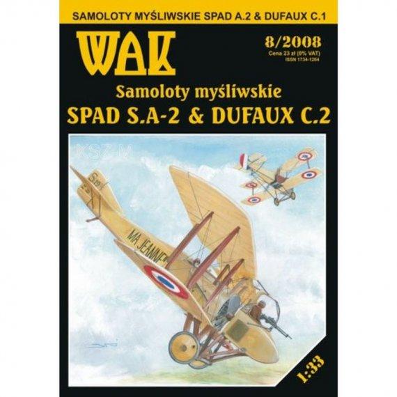 WAK 8/08 - Dwa samoloty SPAD A.2 i Dufaux C.1