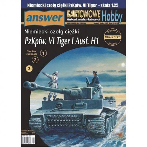 Answer 5/07 Czołg TIGER I Ausf.H1