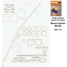Laser do Orlik 029 Morane Saulnier MS 406