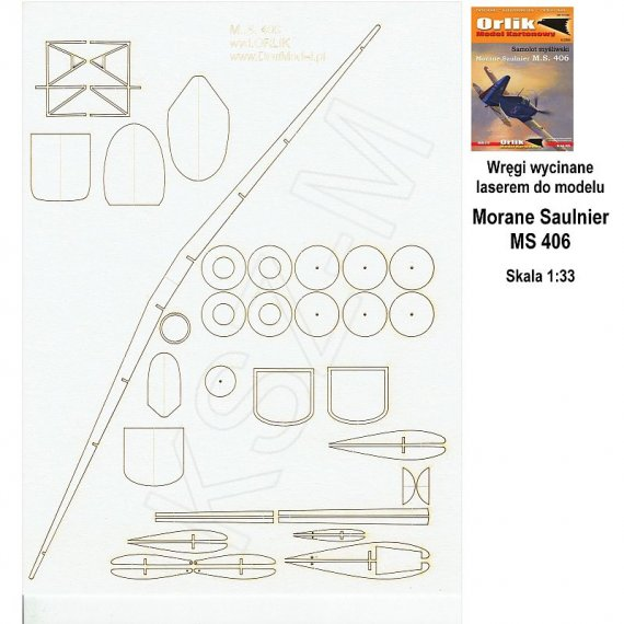 Szkielet do Morane Saulnier MS 406 - Orlik 029