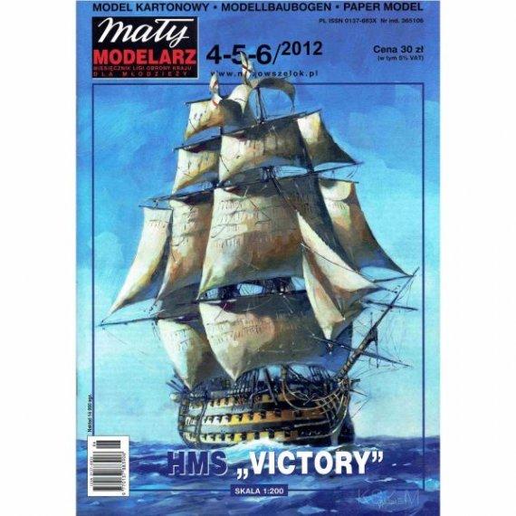 Mały Modelarz 4-5-6/12 - Okręt HMS Victory