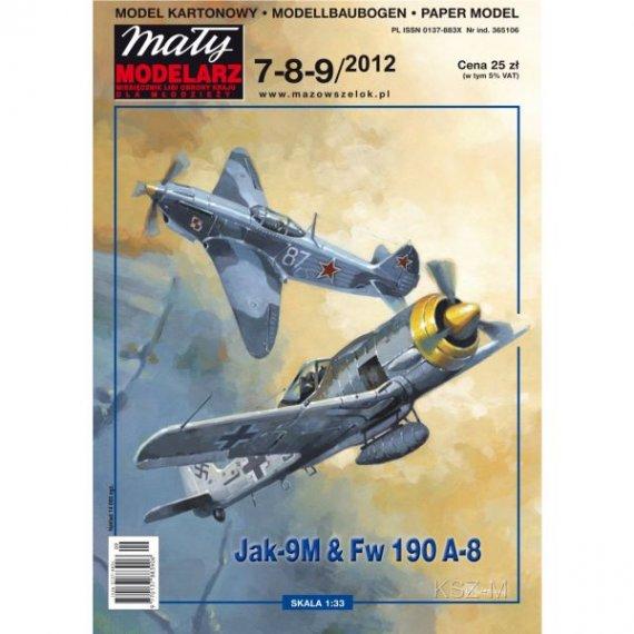 Mały Modelarz 7-8-9/12 Samoloty Jak-9M i Fw-190