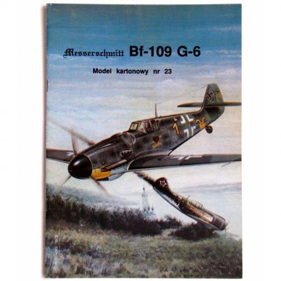Model Card 23 Samolot Bf-109 G-6