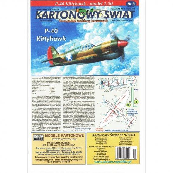Answer 9/03 Samolot P-40 Kittyhawk