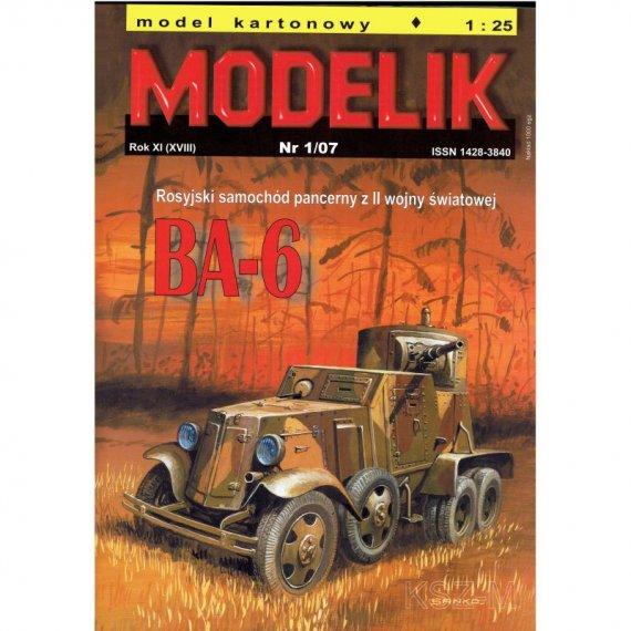 Modelik 1/07 BA-6 rosyjski samochód pancerny