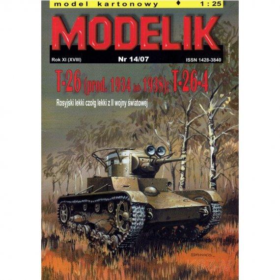 Modelik 14/07 Czołg T-26 lub T-26-4