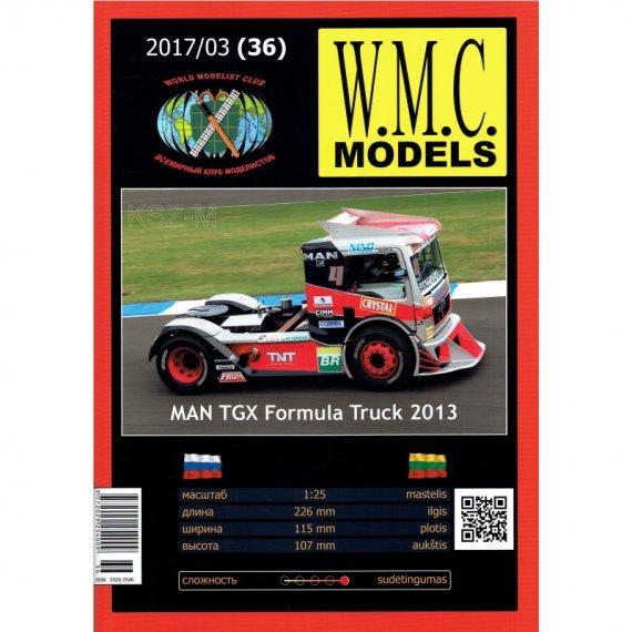WMC Models 36 MAN TGX Formula Truck 2013
