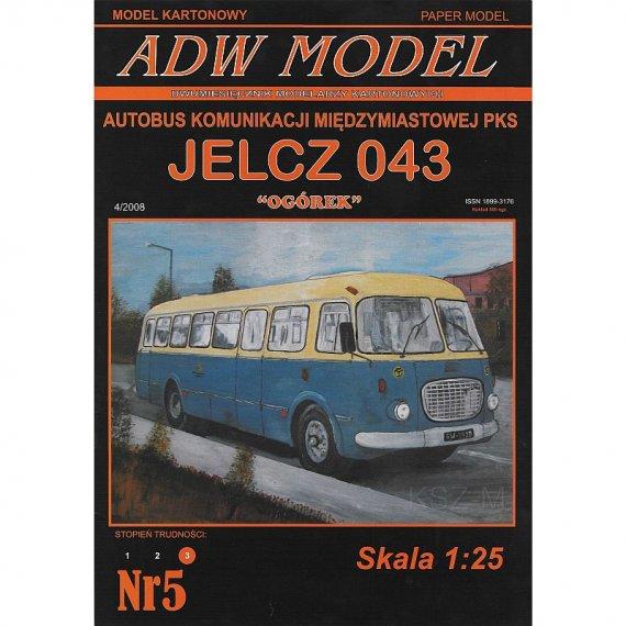 """Autobus JELCZ 043 PKS """"Ogórek"""" - ADW Model 5"""