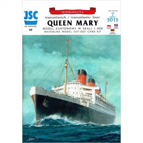 Model kartonowy do sklejenia JSC Brytyjski super transatlantyk QUEEN MARY