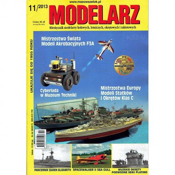 Modelarz 11/2013 -  Queen Elizabeth,szybowiec Sroka