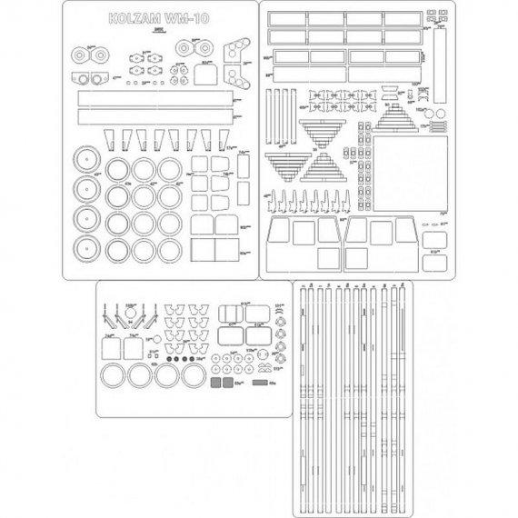 Drezyna WM-10 - szkielet, detale, koła - Angraf 119