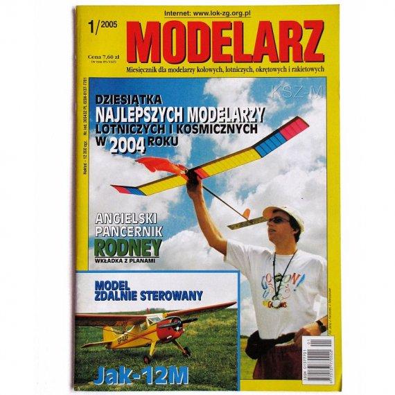 Modelarz 1/2005 - Rodney, JAK-12M, szybowiec Orlik