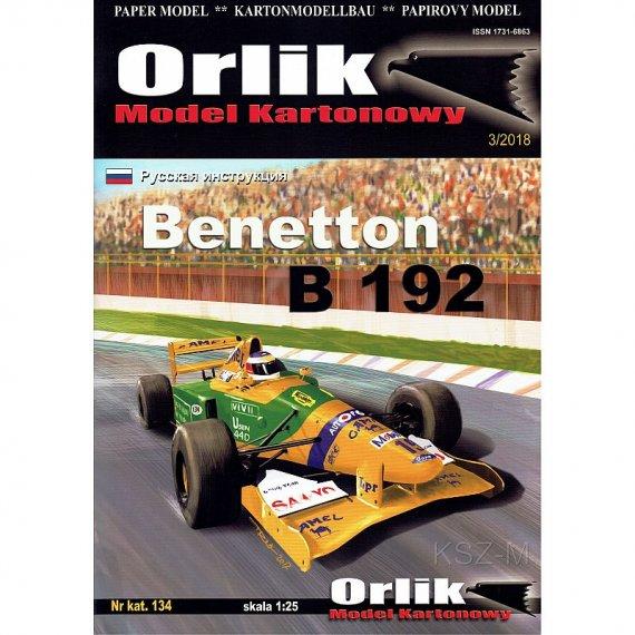 Benetton B 192 - bolid Formuły 1 - Orlik 134