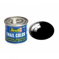 Farba email 07 Black - Czarny - REVELL 32107