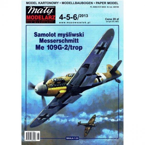 Mały Modelarz 4-6/13 Samolot Me 109G-2/trop