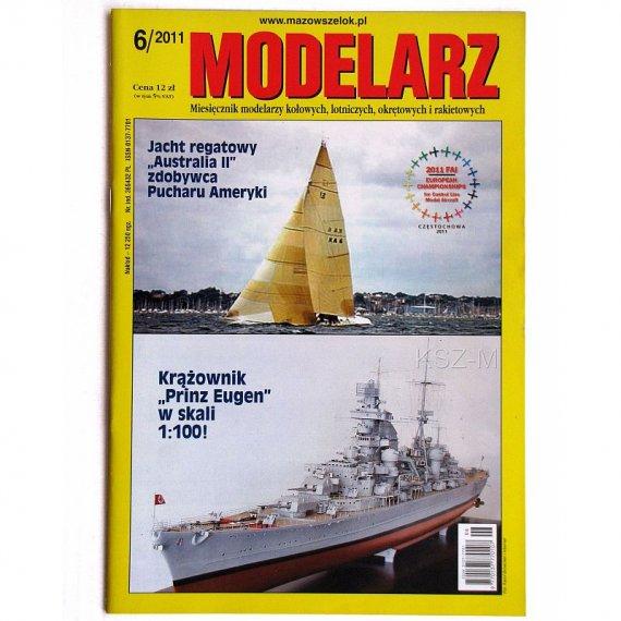 Modelarz 6/2011 - kuter Ewa, jacht Australia II