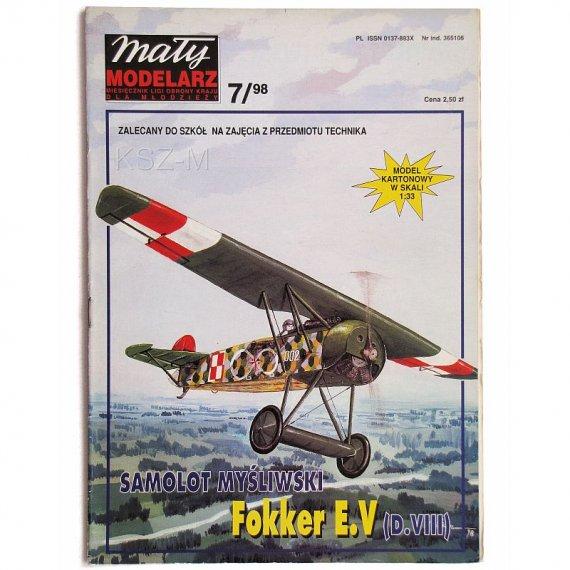 Mały Modelarz 7/98 Samolot Fokker E.V