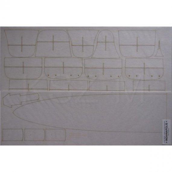 Laser do Modelik 22/06 Krążownik USS INDIANAPOLIS