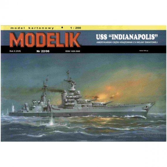 Modelik 22/06 Krążownik USS INDIANAPOLIS
