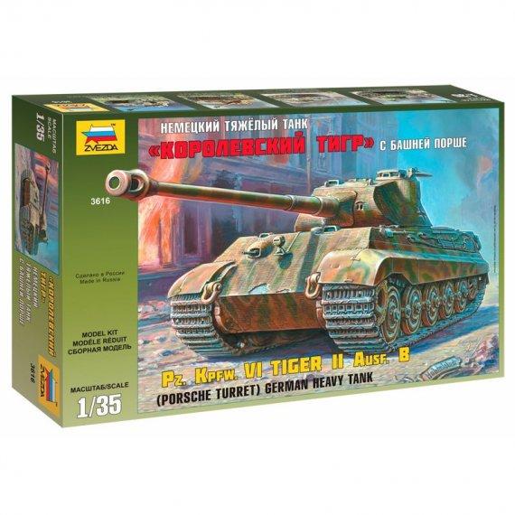 Zvezda 3616 - Pz.Kpfw.VI TIGER II Ausf.B (Porsche) 1:35