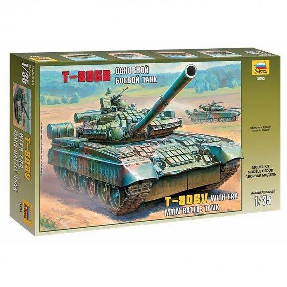 Zvezda 3592 - T-80BV czołg podstawowy 1:35