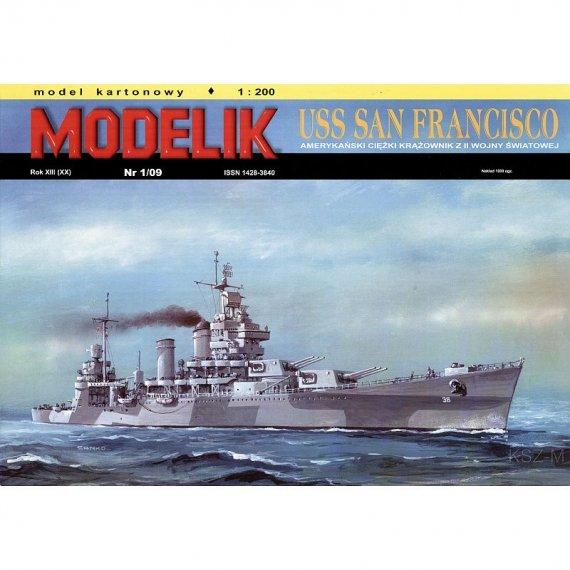Modelik 1/09 - Krążownik USS SAN FRANCISCO