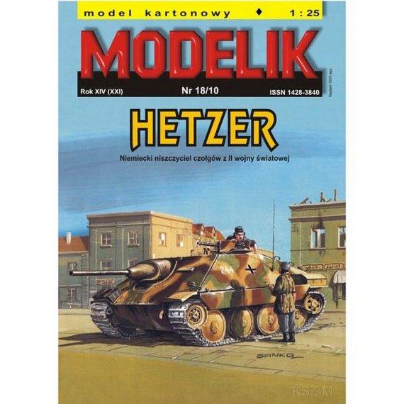 Modelik 18/10 - HETZER - niszczyciel czołgów