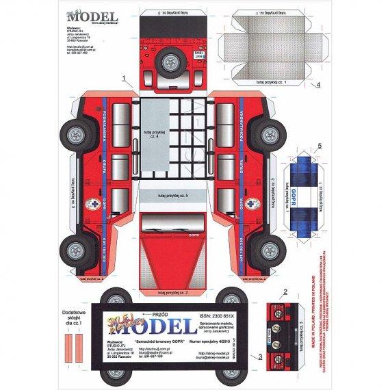 Sklej Model 4/15 - Samochód terenowy GOPR