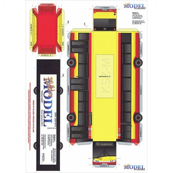 Sklej Model 5/15 - Autobus miejski