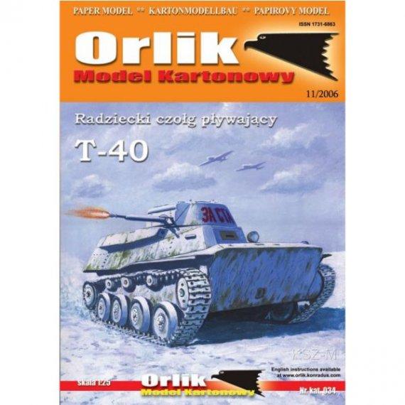 Orlik 034 - Radziecki czołg pływający T-40
