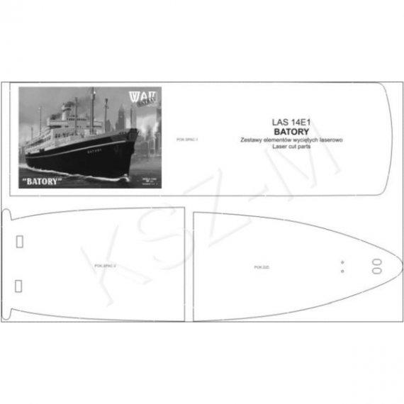Laser do WAK 1/14 Statek pasażerski Batory