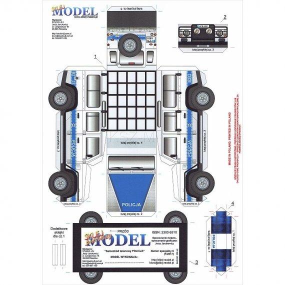 Sklej Model nr 6 - Samochód terenowy POLICJA
