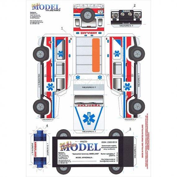 Sklej Model nr 7 - Samochód terenowy AMBULANS
