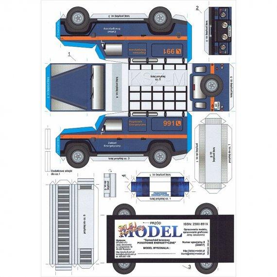 Sklej Model nr 8 - Samochód POGOTOWIE ENERGETYCZNE