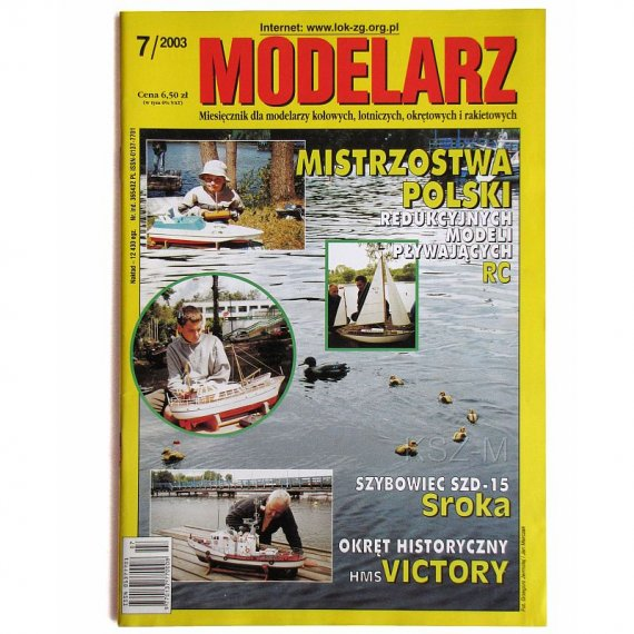 Modelarz 7/2003 - HMS Victory, SZD-15 Sroka