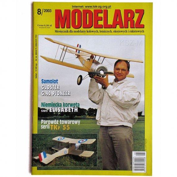 Modelarz 8/2003 - SMS Elisabeth, parowóz TKr 55
