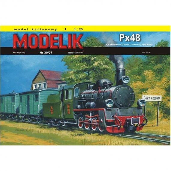 Modelik 30/07 Px48 polski parowóz wąskotorowy