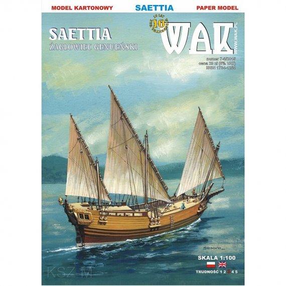 WAK 7-8/15 - Żaglowiec Saettia