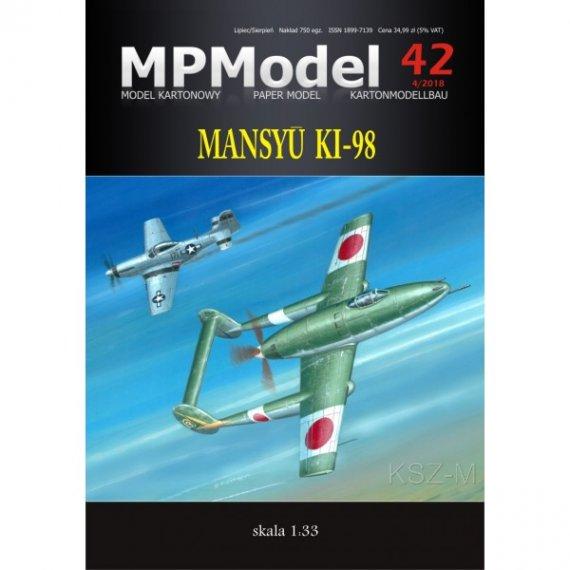 MPModel 42 - Mansyu Ki-98 samolot myśliwski