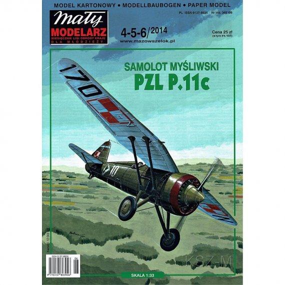 Mały Modelarz 4-5-6/14 - PZL P-11 c