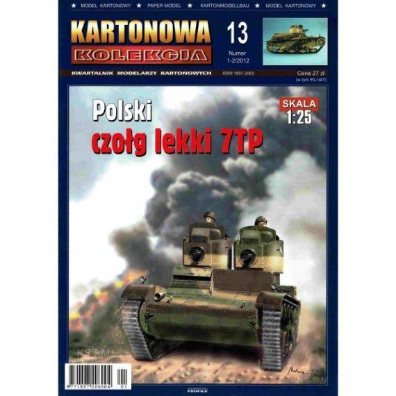 Kartonowa Kolekcja 13 Czołg 7TP (dwuwieżowy)