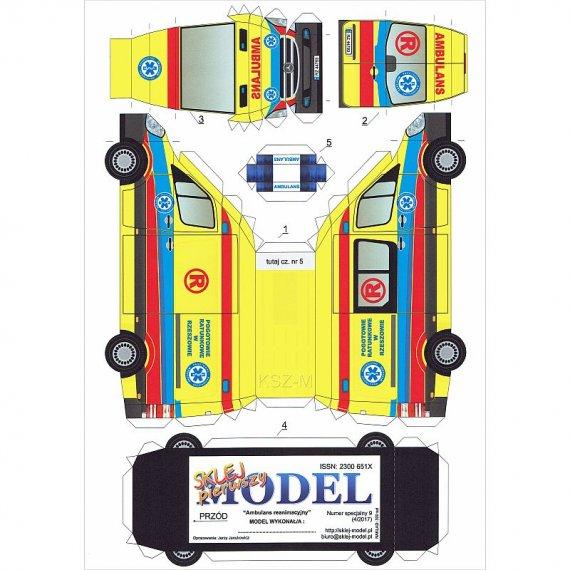 Sklej Model nr 9 - Ambulans Reanimacyjny