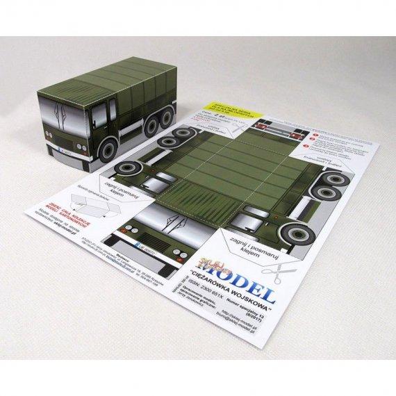 Sklej Model nr 13 - Ciężarówka wojskowa