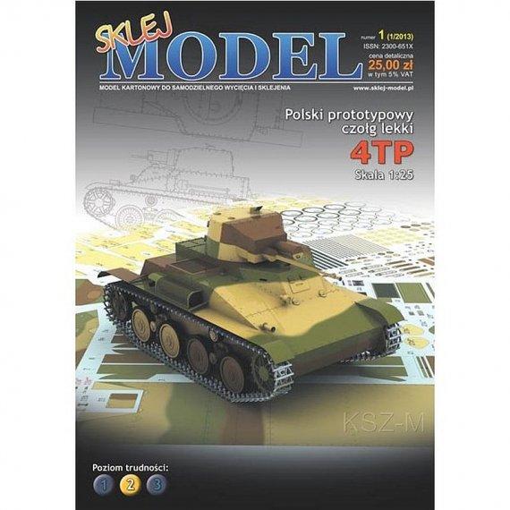 Sklej Model 1 - Polski czołg lekki 4TP