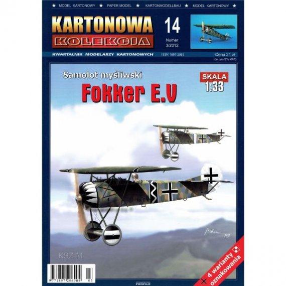 Kartonowa Kolekcja 14 - Samolot Fokker E.V