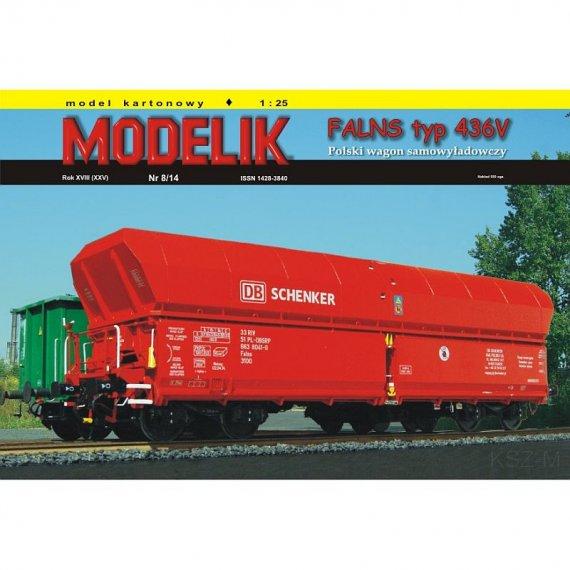 Modelik 8/14 - FALNS typ 436V wagon węglarka