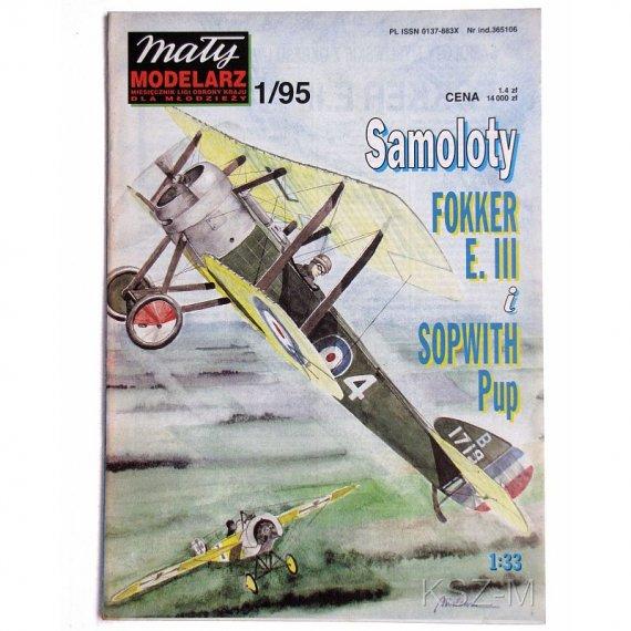 Mały Modelarz 1/95 Fokker e.III i Sopwith Pup